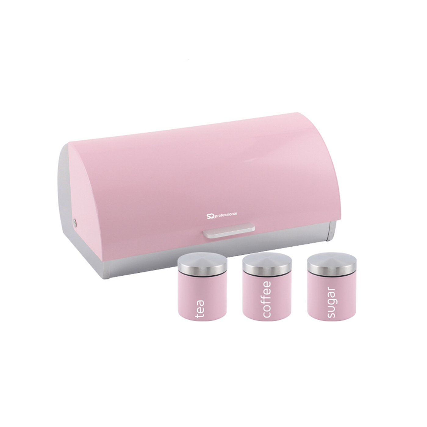 Tea And Sugar Canisters Set  Stainless Steel In 3