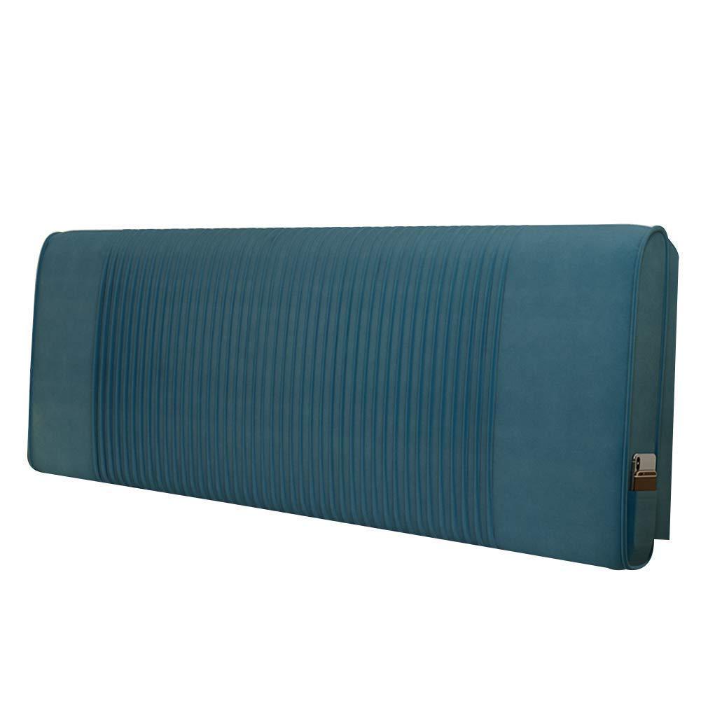 SXT ベッドサイドクッションサポートウエストバックレストソフトピロー布張り肌に優しいフランネル、ヘッドボード付き/なし (Color : Blue With Headboard, サイズ : 180CM) B07R5DSLK1 Blue With Headboard 180CM