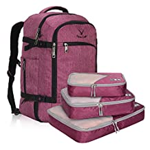 Hynes Eagle 40l Large Flight Approved Backpack (RedViolet with 3PCS Packing Cubes)