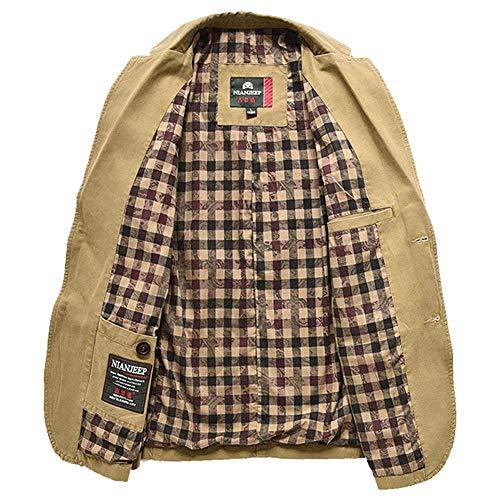 Confortable Tailles Homme Vêtements Loisirs Veste Deux Blazer Boutons Manteau Costume Khkai Fit Style Slim wXZgpUq