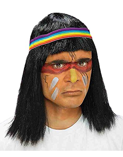 Forum Native American Brave Wig, Black, One (Tonto Costume For Adults)