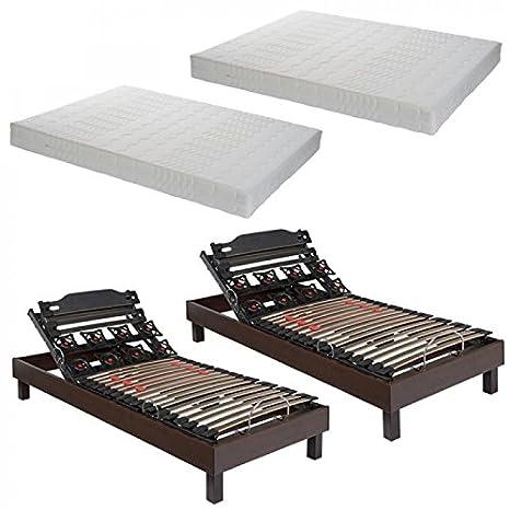 Essenzia Literie eléctrico Zen flexredluxe, colchón Classic Muelles 2 x 90 x 200 Muelles Muelles ensacados: Amazon.es: Hogar