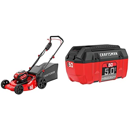 Amazon.com: CRAFTSMAN CMCMW260P1 V60 - Cortacésped 3 en 1 ...