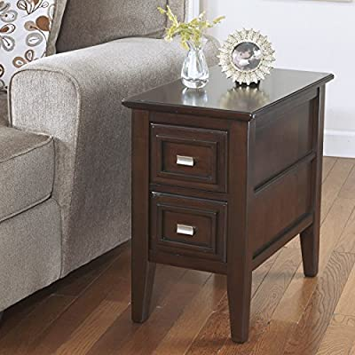 Larimer Brown Chair Side End Table