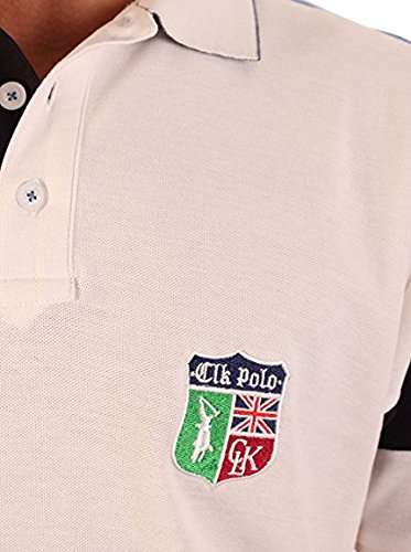CLK Polo - Polo Piqué College De Manga Corta Blanco, Talla L ...