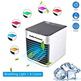 Top-Spring Arctic air Ultra Portable Mini air Cooler Air-Conditioning Fan,USB Charging humidifier Fan Cooling and Cooling,air Conditioning Filter humidifier Triple 3 Speeds 7 Colors LED Night Light