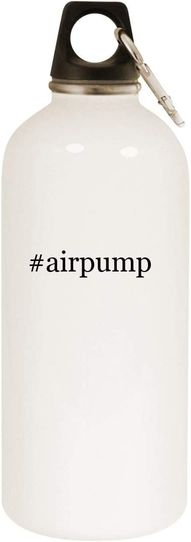 #airpump - 20oz Hashtag Stainless Steel White Water Bottle with Carabiner, White 51NcmOyUKYL