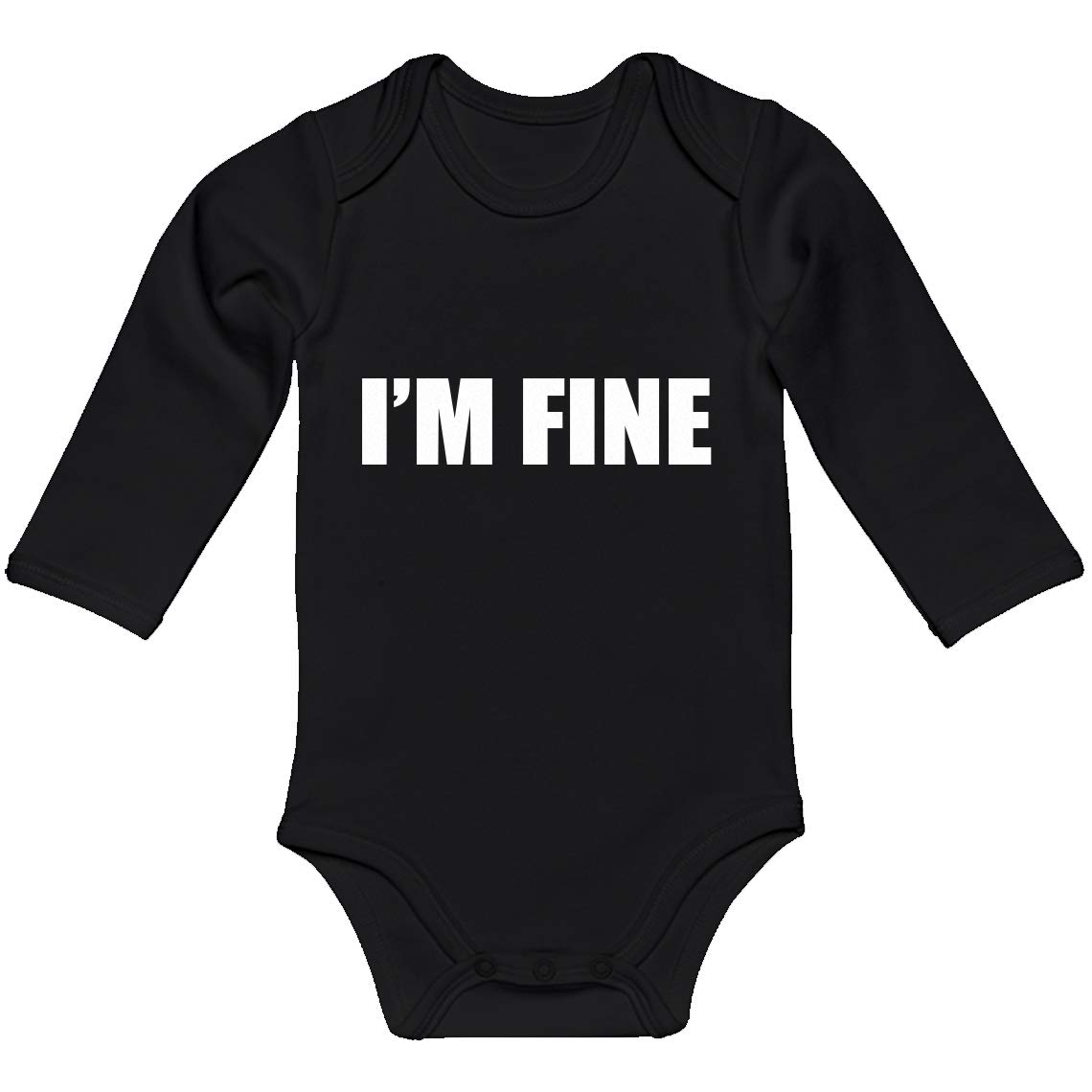 Baby Romper Im Fine 100/% Cotton Long Sleeve Infant Bodysuit