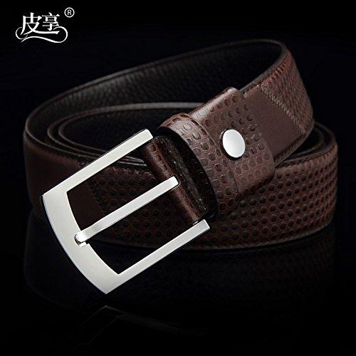 LLZZPPD Cinturón Cinturones Hombre Hebilla De Cinturón Joven Hombres De  Mediana Edad Boda 883928664a6b
