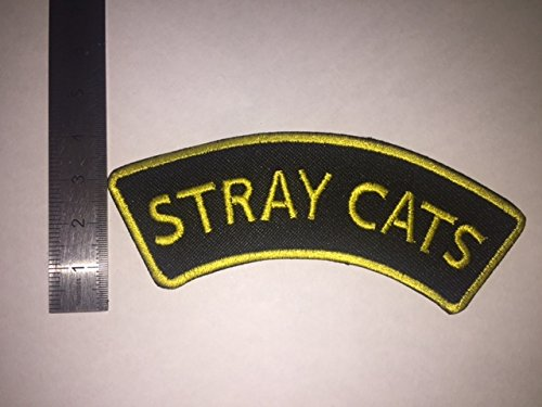 BLUE HAWAI Ecusson Patches aufnaher Toppa –  Stray Cats –  termoadhesiva