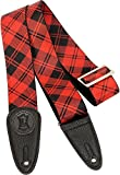 Levy's 2 in. Sublimation Plaid Guitar Strap Red Plaid 2 in.