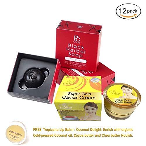 12 BOXES OF BLACK HERBAL SOAP BY PCARE SKINCARE BRIGHTENING WHITENING AURA SKIN REDUCE ACNE DARK SPOT REJUVENATE SKIN[GET FREE TOMATO FACIAL MASK] by BLACK HERBAL SOAP (Image #9)
