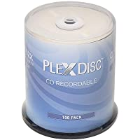 PlexDisc CD-R 700MB 80 Minute 52x Recordable Disc - 100 Pack Spindle (FFP) 631-805-BX
