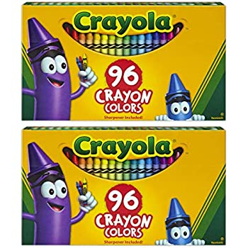 Crayola Crayons, Sharpener Included, 96 Colors (Pack of 2)