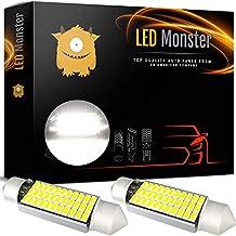 LED Monster Extremely Bright 400 Lumens 3014 Chipset Canbus Error Free LED Bulbs for Interior Car Lights License Plate Dome Trunk Courtesy 1.72 41MM 42MM Festoon 211-2 569 578 6000K Xenon White