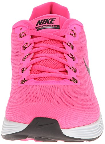 Nike Wmns Lunarglide 6 - Zapatillas para mujer Rosa (Hyper Pink / Blk-Pr Pltnm-Cl Gry)