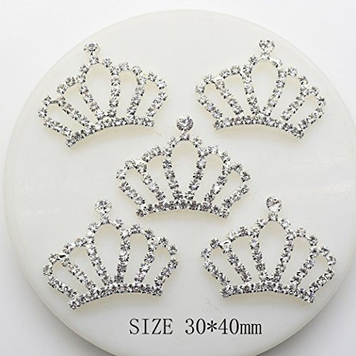 20pcs 30x40mm Imperial Crown Crystal Shape Christmas Buttons Acrylic Embellishment Rhinestone Button DIY - Crown Rhinestones