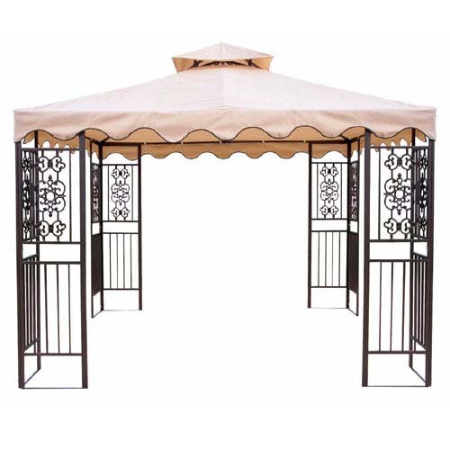 - Replacement Canopy for Walmart's DC America Gazebo - RipLock 350 - Beige