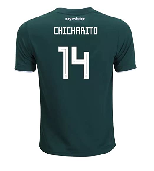 adidas Mexico Home Youth Chicharito Jersey 2018 2019 (Official Printing)  (YXL- 029071045