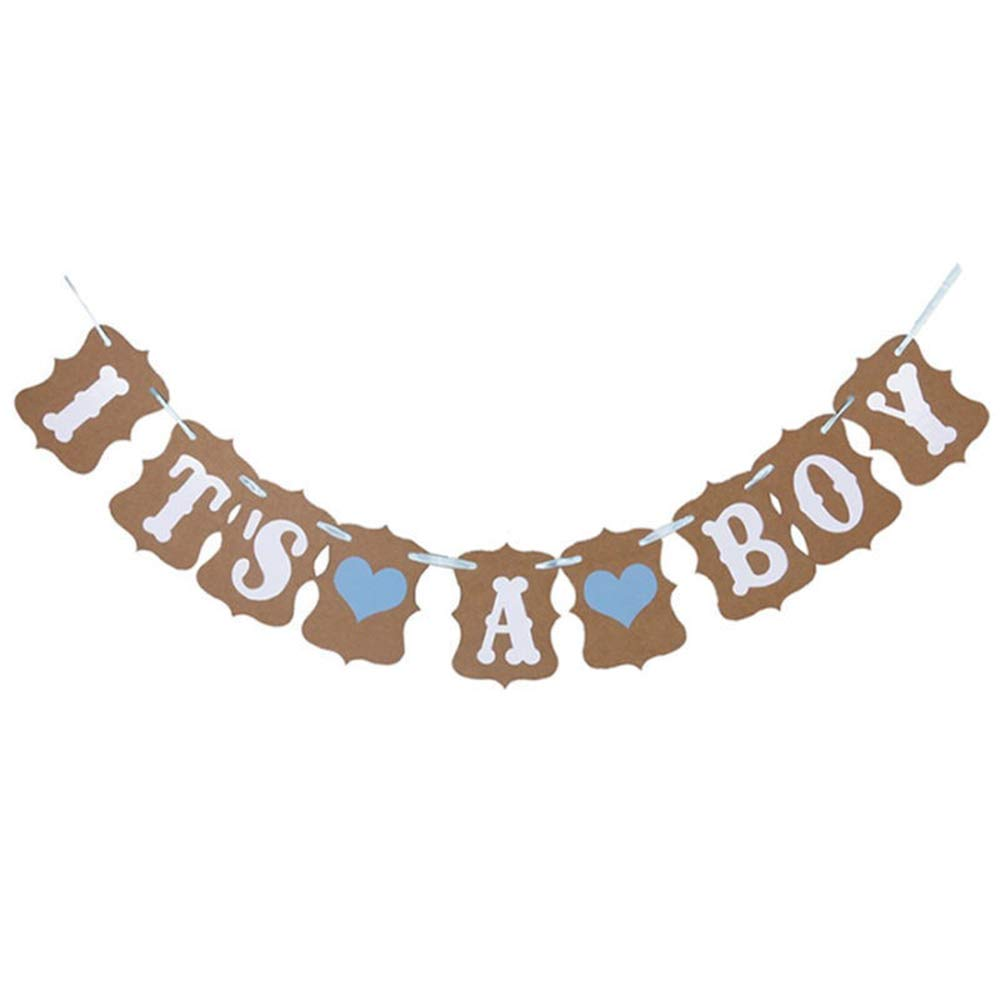 Rzctukltd It Is A Boy Baby Shower Bunting Party Banner Garland Photo Props Balloon Decor Sign
