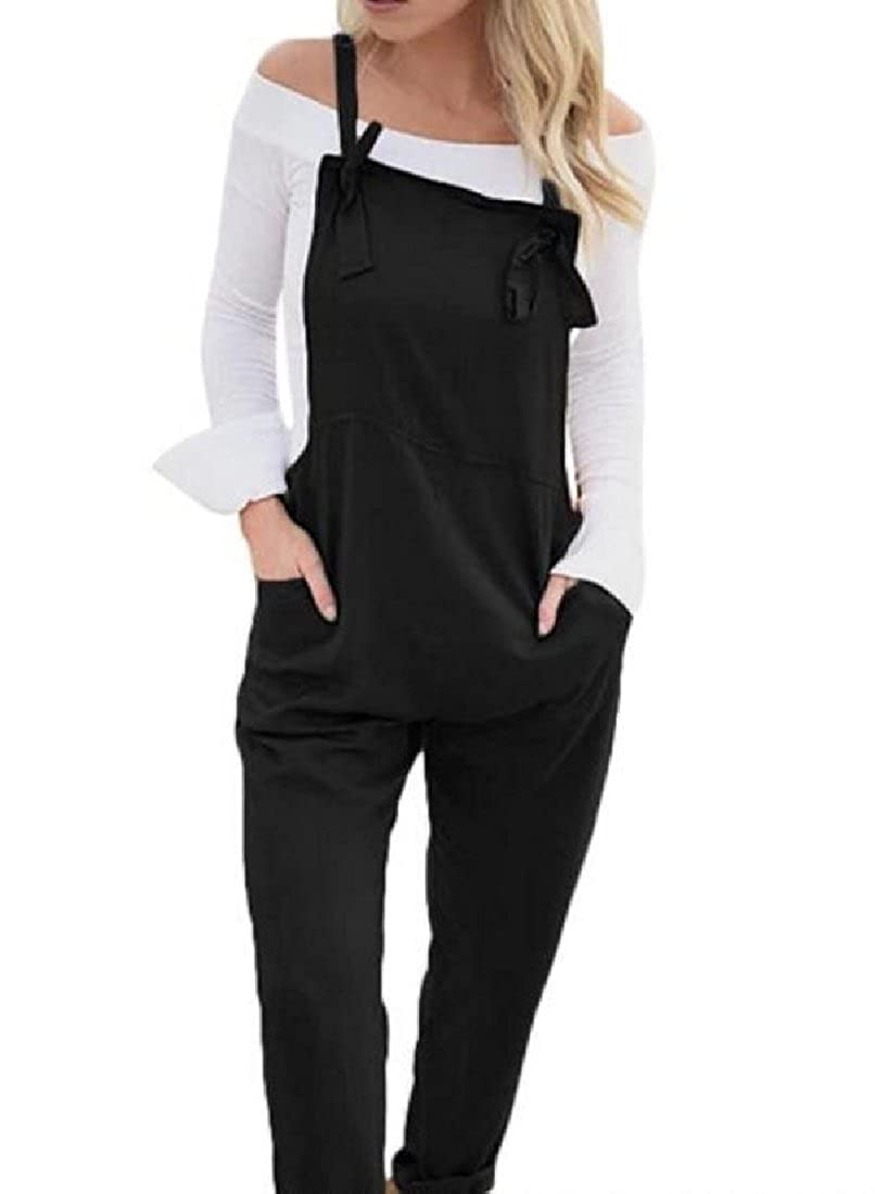 SportsX Womens Big Pockets High-Waisted Pants Plus Size Pants Overall Bib