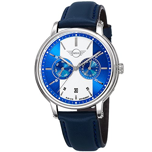 Mini Men's MINI160638 Swiss Quartz Blue Genuine Leather Strap Watch