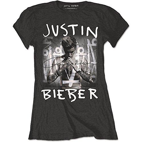 Justin Bieber Usage pour album officiel noir femme coupe skinny pour homme