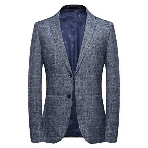 Mens Plaids Suit Jacket Casual Checked Two Buttons Notch Lapel Daily Dress Suit Sport Coat