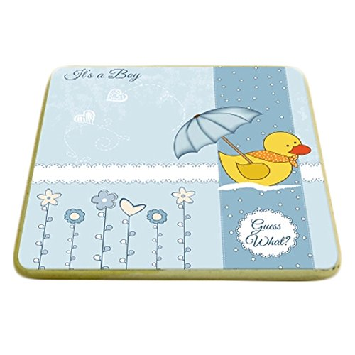 6PCS Square Cartoon Drink Coasters Cups Holder Cup Coaster, Duck