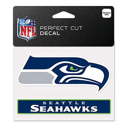 WinCraft NFL Seattle Seahawks WCR48831014 Perfect Cut Color Decal, 4.5