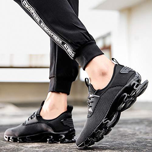 Fitness Ginnastica Cuscino Da Corsa Basse Gym Sneakers Ginli D'aria Uomo Ragazza Running Scarpe Donna Ragazzo Shoes Basket Sportive Casual Nero xgTtw0vqIw