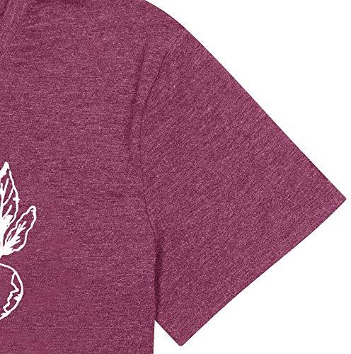 GEMLON Beet Farm for Womens Shirt Funny Gardener Vegan Tshirt Radish Graphic Short Sleeve Top Tee Red