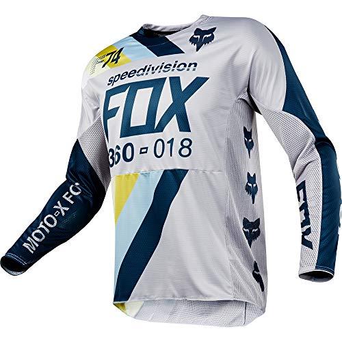 - Fox Racing 2018 360 Jersey - Draftr (X-Large) (Light Grey)