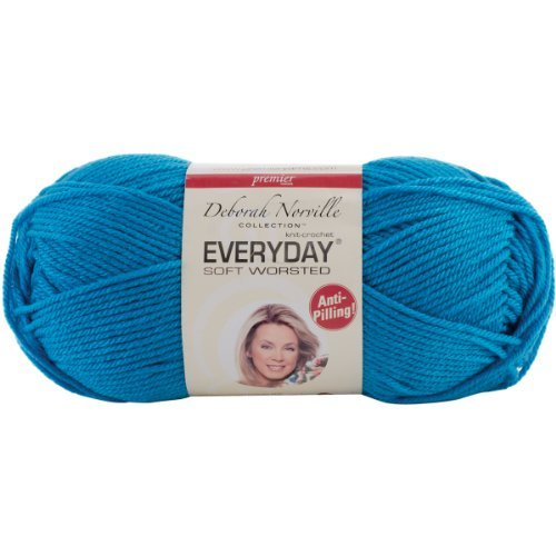 Premier Yarn Deborah Norville Collection 3-Pack Everyday Solid Yarn, Wild Blue by Premier Yarn by Premier Yarn