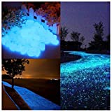 interesting diy patio decor ideas Glow in the Dark Garden Pebbles Stone for Walkway Yard and Decor DIY Decorative Gravel Stones in Blue(100PCS)