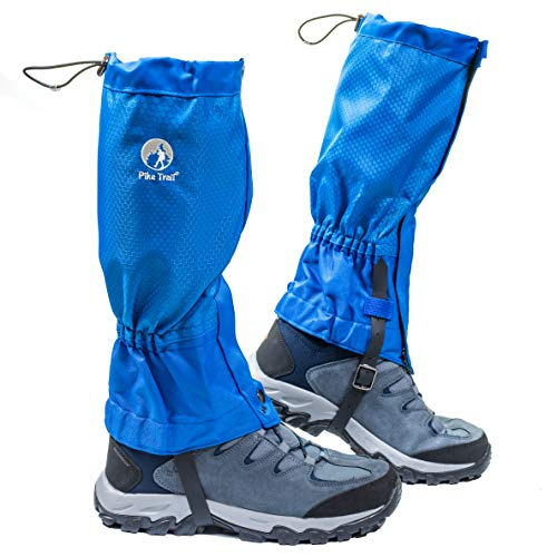 Pike Trail Leg Gaiters - Waterproof and Adjustable Snow Boot Gaiters for Hiking, Walking, Hunting, Mountain Climbing and Snowshoeing (Midnight Blue)