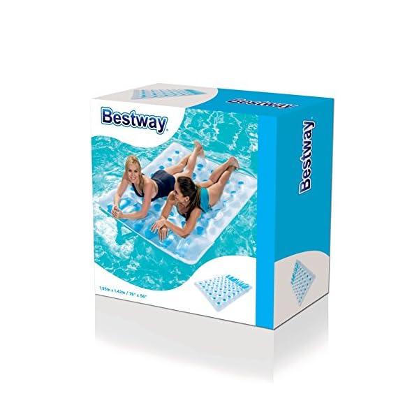 Bestway 43055  Summer - Materassino Gonfiabile Mare Matrimoniale, 36 Buchi, Blu, 1.93 m x 1.42 m 3 spesavip