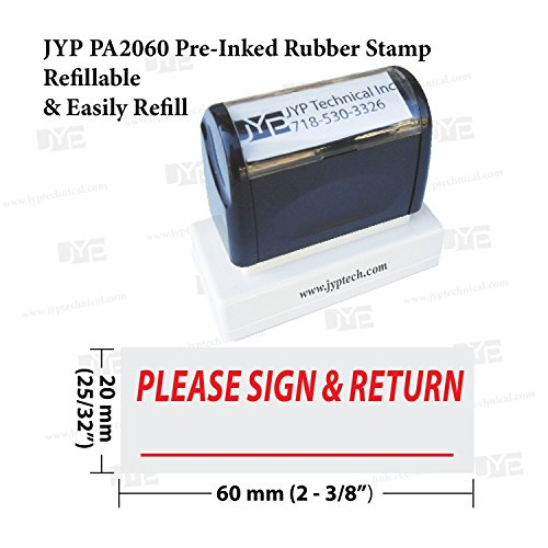 (New JYP PA2060 Pre-Inked Rubber Stamp w. Please Sign &)