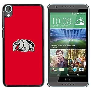EJOY---Cubierta de la caja de protección la piel dura para el / HTC Desire 820 / --RED BULLDOG