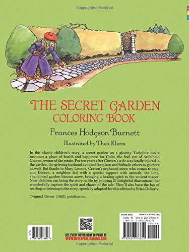 The Secret Garden Coloring Book Frances Hodgson Burnett Thea Kliros 9780486276809 Books