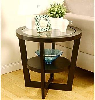 Orbicular Tempered Glass Kiki End Table