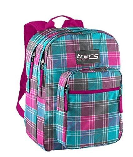 Trans by Jansport TM60 Supermax Backpack - BLINDED BLUE DANDY PLAID (9TV)