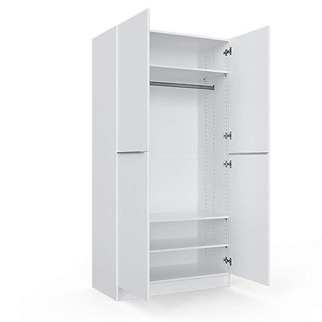 Vicco Kleiderschrank Comfort Offen Einlegeboden Weiß 50 X 200 X 50