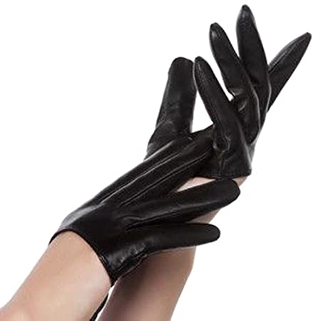 Leather gloved hand sex