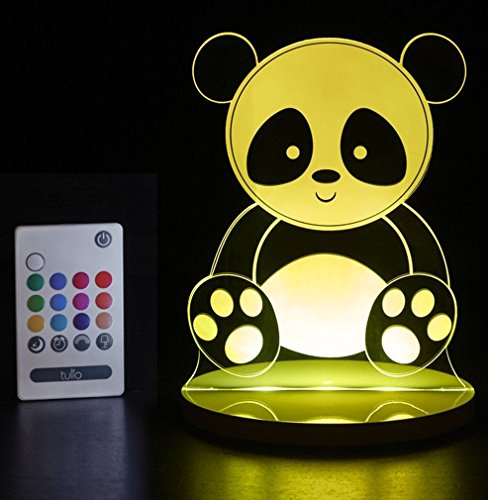 Tulio Dream Lights Panda Bear Multi-Use, Multi-Color Night Light (Panda Bear Lamp)