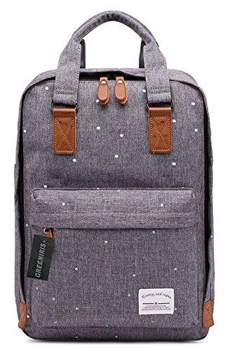 Greeniris Causal Oxford Backpack Women Daypack Fashion School Backpack for Teenage Girls Grey