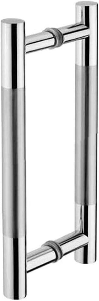 Tirador de puerta corrediza Tiberham, de acero inoxidable resistente, para baño, ducha, tirador de puerta, manilla de vidrio de dos caras para puerta de cobertizo, armario de madera, barra en T