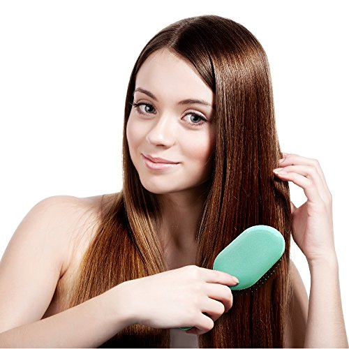 WATCH OUR VIDEO! NuWay 4Hair! Dual Patented Traveler Detangling Brush - Exclusive travel-case - Detangles Wet or Dry Hair - The perfect size for your purse, pocket, kids, beach, and travel! (Green) by NuWay 4Hair (Image #7)