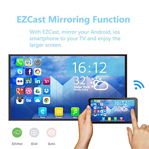 Ezcast Wireless Display Dongle Wifi 2.4G HDMI TV Stick Screen Mirroring Adapter for DLNA Airplay Miracast Support IOS Andorid Windows to TV Monitor Projector Up to 1080P by Yehua (Image #4)