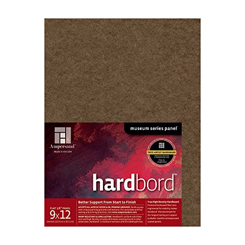 Ampersand Museum Series Hardbord for Painting and Mounting, 1/8 Inch Depth, 9X12 Inch (AMHB09)